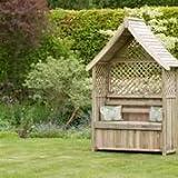 zest4leisure 63x 148x 206cm Norfolk Gartenlaube mit Aufbewahrungsbox–Holz