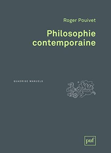 Philosophie contemporaine par
