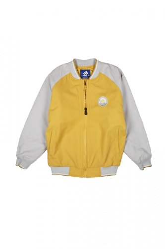 Adidas Kinder Jacke Blouson-Jacke , Farbe: Dunkelgelb, Groesse: 170