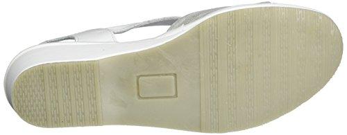 Comfortabel Damen 710817 Sandalen Weiß (Weiß)