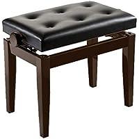 Casio BGM - Banqueta de piano/teclado, piano regulable en altura, color palisandro y negro