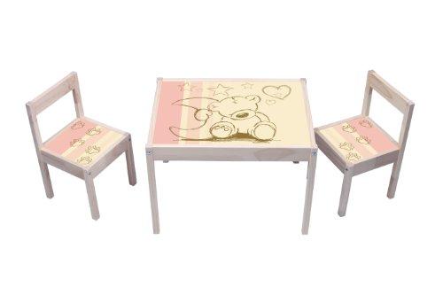 """""""Teddy"""" Aufkleber - KA03 - (Möbel nicht inklusive) - Möbelsticker passend für die Kindersitzgruppe LÄTT von IKEA"""