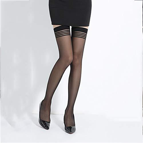 Calze a cosciali alte e sottili da donna, calze e calzini a vita alta, estate e estate jccoz (color : a)