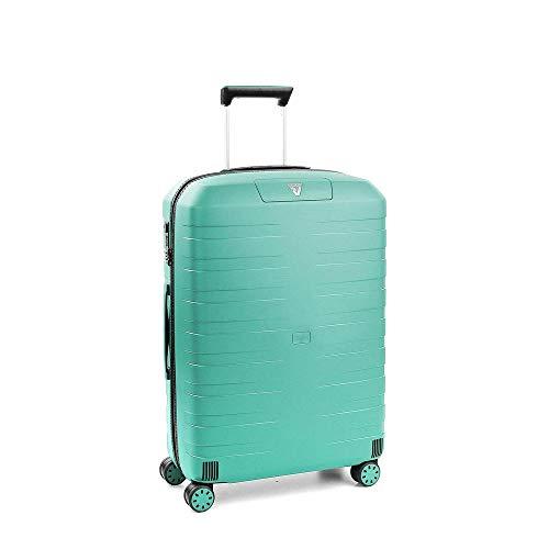 Roncato Box 2.0 Trolley Medio - 4 Ruote, 69 Cm, 80 Litri, Smeraldo