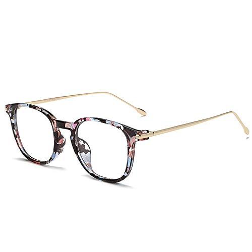 YMTP Presbyopie Brillen Männer Frauen Transparent Rezept Business Optische Brillen Ultra Light Alloy Frame Gläser, Blume