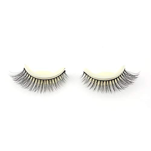 Swiftswan 1 Pair Self-Adhesive Eyelashes Pack,3D False Eyelashes Easy to Wear,No Glue Involved & Reusable,Natural Fashion Eye Lash Extensions for Makeup