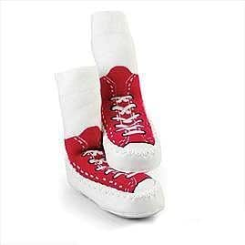 Mocc Ons By Sock Ons RED Sneaker size 6-12 Months - NEW DESIGN!