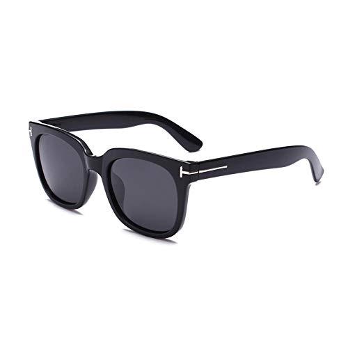 Sonnenbrille Womens Aviator polarisierten Sonnenbrillen Muse New Fashion polarisierten Sonnenbrillen Farbe Brille koreanischen großen Rahmen SonnenbrillenBright schwarz Esche