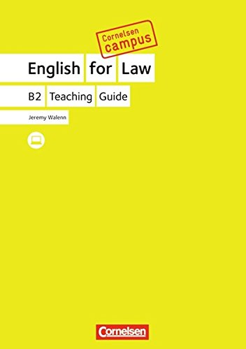 Cornelsen Campus: English for Law. Handreichungen für den Unterricht
