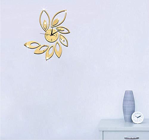 Hanjiming 2018 Neue Acryl Wanduhren DIY Kristall Uhr Quarz Wanduhren Wohnkultur Im Wohnzimmer Wanduhr Artwall Uhr (Rauen Quarz Kristall)
