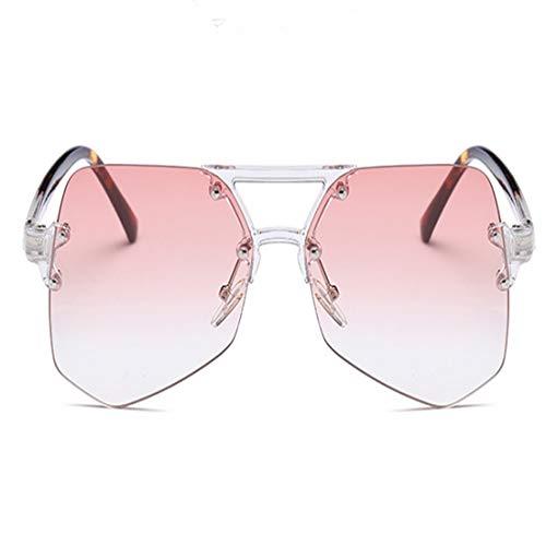 Shiduoli Unregelmäßige dreieckige Sonnenbrille für Männer Frauen Radfahren Laufen Fahren Angeln Golf Brille (Color : Pink)