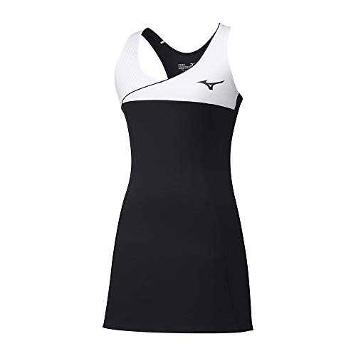 Mizuno Damen Amplify Dress Kleid, Schwarz, m