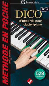 Partition : Dictionnaire d'accords pour claviers - Piano, Orgue, Claviers - Format de poche