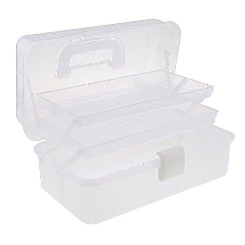 sharplace Kunststoff 3Ebenen Lagerung Organizer Fach Werkzeug Container Aufbewahrungsbox Fall...