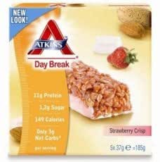 Atkins Day Break Strawberry Crisp Bar 5 x 37g