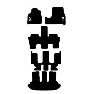 Citroen C8Teppiche Schwarz für Auto, Komplettset-Gummimatten passgenau mit Stickerei Bianco