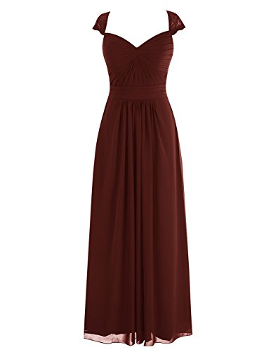 Dresstells® Long Bridesmaid Dress Open-Back Evening Gown Ruched Prom Dress