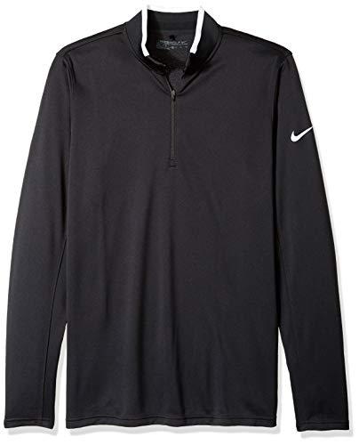 Nike Golf Dri-Fit 1/Technische 2-zip LS-Shirt langarm für Herren L Schwarz - Nike Langarm Dri-fit-golf
