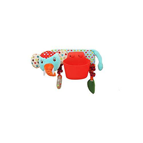 Asiento de coche de juguete cochecito de bebé Niños Cuna Cuna Cochecito de niño Colgante Musical Colgante juguete educativo de la felpa del elefante 1pc