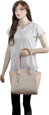 Butterflies Women's Handbag (Cream) (BNS 0580CRM)