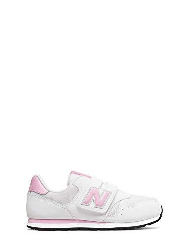 New Balance 373, Formatori Bambina, Bianco White, 34.5 EU