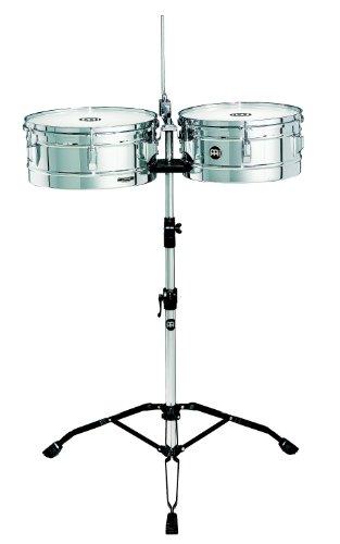 Meinl Percussion HT1314CH Timbales, Headliner Series, Durchmesser 33,02 cm (13 Zoll) und 35,56 cm (14 Zoll), chrom