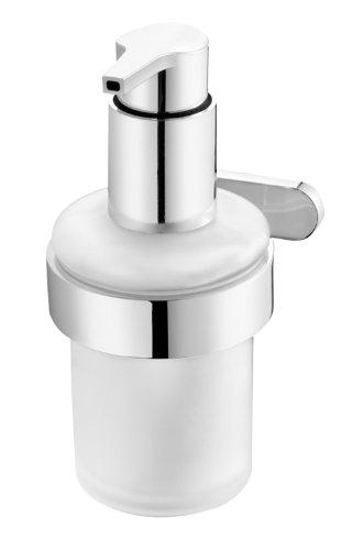 bisk-natura-distributeur-de-savon-liquide-mural-en-verre-givr-avec-support-finition-chrome
