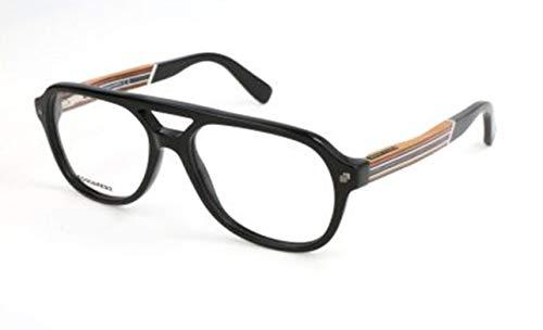 Dsquared2 Herren Dq5229 Brillengestelle, Schwarz, 55