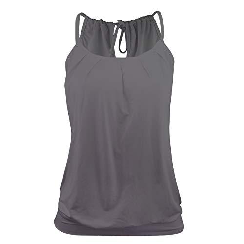 Stynice Top Damen Sommer Ärmellose T Shirt Oberteile Elegant Bluse Tank Top Losen - Sexy Tops Blusen