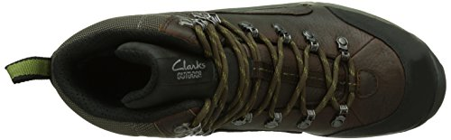 Clarks Outride Hi GTX Herren Schneestiefel Braun (Brown Leather)