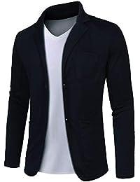 MAXMODA Blazer Uomo Casual Giacche da Abito Slim Fit Giacca in Cotone con  Due Bottoni S d8aa10fc600