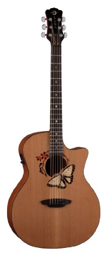 LUNA GUITARS OCL BTF   GUITARRA ELECTROACUSTICA  COLOR MARRON