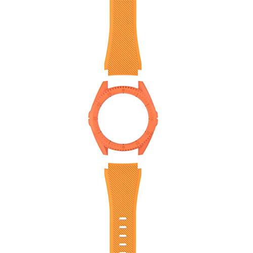 Huawei Uhrenarmband + Gehäuse, Webla, Silikon-Uhrenarmband + Harte Pc-Abdeckung Für Huawei Gt Smart Watch, Nylon Orange (Or)