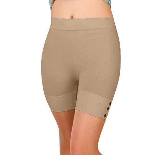DEELIN Fashion - Kurze Leggings für Sport - Enden über dem Knie - Basic Slip Bike Shorts Compression Workout Leggings Yoga Shorts Capris