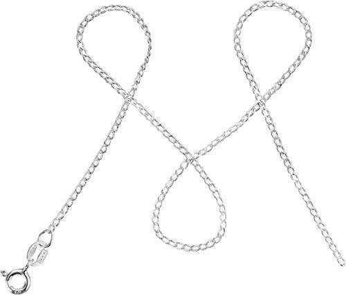 modabilé Damen Panzerkette Sincere 90cm mit Etui I Halskette aus 925 Sterling Silber I Silberkette Ohne Anhänger I 1,3mm Breit I Made In Europe
