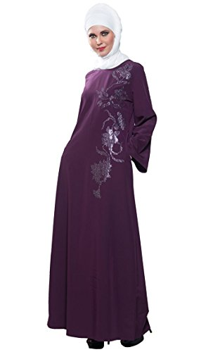 East Essence - Robe - Solid - Manches Longues - Femme Violet
