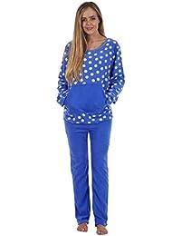 9a0ecbbc48 Anna Klein Ladies Stunning Printed Fleece Pyjama Set Womens PJ s Winter  Warm Nightwear