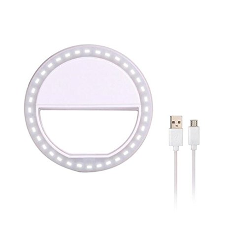 Selfie-Ring-Light-Carryme-Portable-36-LED-clip-su-bianco-Flash-Beauty-Fill-in-luce-Webcast-esterno-Web-indispensabile-Illuminazione-supplementare-Illuminazione-notturna-Fotocamera-Dimmable-Dimmable-Fo