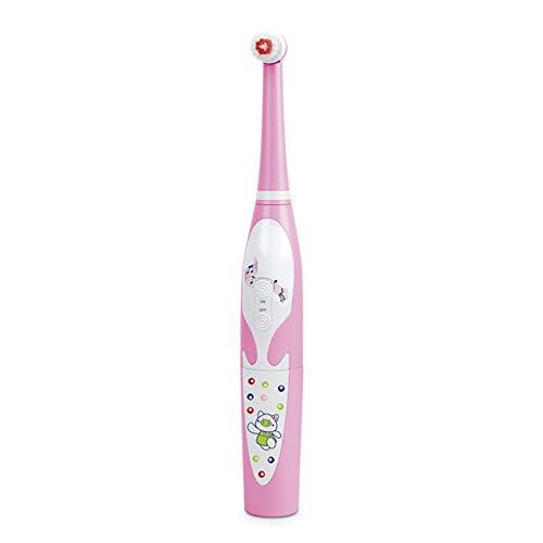 Musikalische Zahnbürste (CCHM Musikalische elektrische zahnbürste oszillierende Wasserdichte Massage Cartoon Design Tiefe Reinigung Plaque zähne für Kinder,Pink)