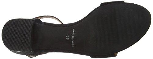 Sofie Schnoor suede sandal Damen Offene Sandalen mit Blockabsatz Schwarz (Black)
