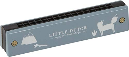 LITTLE DUTCH 4403 Kinder Mundharmonika Holz adventure blue