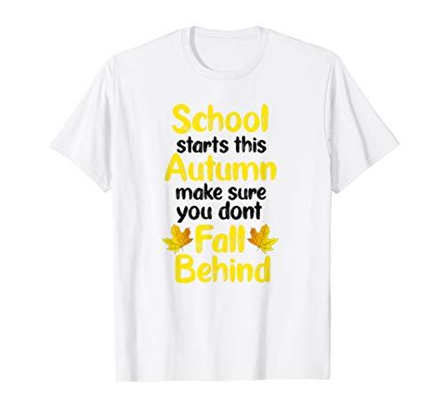 Willkommen zurück in der Schule Lehrer Geschenk T-Shirt