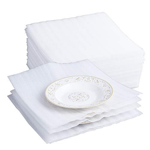 Belinlen 75 Stück 30,5 x 30,5 cm Kissen Schaumstoff Wrap Bögen für Umzug, Versand, Verpackung, Aufbewahrung, Aufbewahrung sicher Kissen Wrap für Brillen, Dishes,China, Möbel (1,5 mm Dicke)