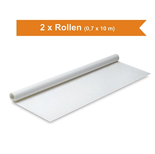 Premium Seidenpapier 0,7 m x 10 m Schnittmusterpapier Skizzenpapier Papierrolle Zuschneidepapier transparent (2 Rollen)