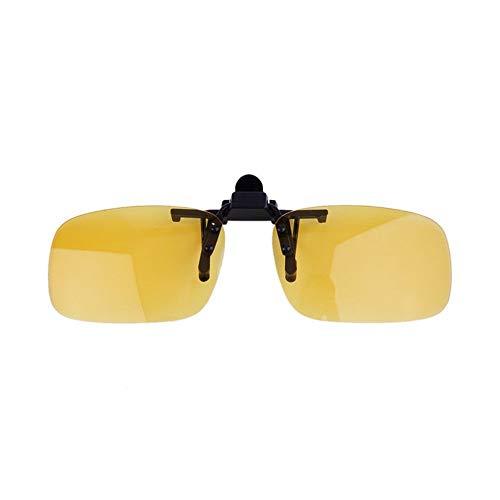 Driving Nachtsicht Clip-on Flip-up Objektiv Sonnenbrille Coole Eyewear Clip auf Objektiv Anti-UV 400 Unisex für Frauen & Männer