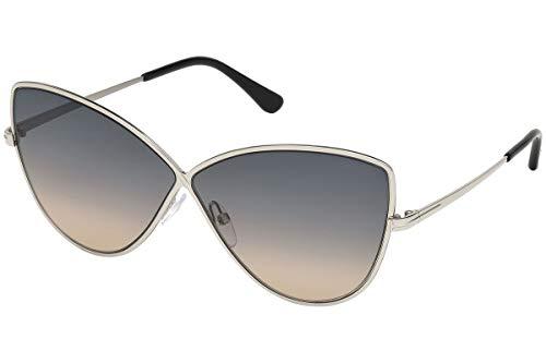 Tom Ford Unisex-Erwachsene FT0569 16B 65 Sonnenbrille, Silber (Palladio Luc/Fumo Grad),