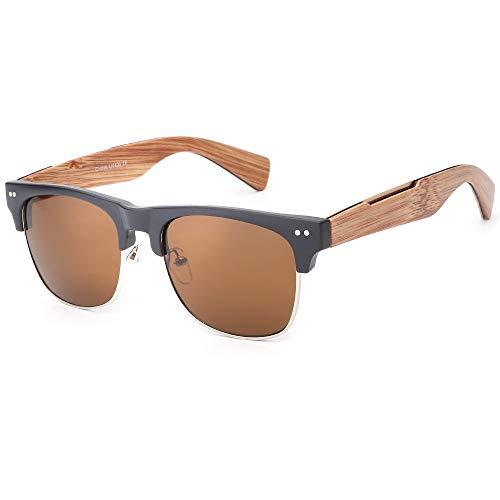 MINGMOU Retro Sonnenbrille Nachahmung Holzmaserung Bambus Füße Beine Sonnenbrille Mode Retro Koreanische Sonnenbrille Neue Heiße Männer Und Frauen Stil Brille, 2