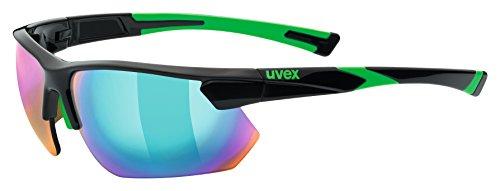 Uvex Erwachsene sportstyle 221 Sportbrille, black-green, One Size