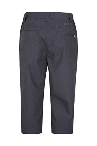 Mountain Warehouse Trek Pantaloni di Capri delle donne di viaggio - multiplo intasca i pantaloni delle signore, i pantaloni leggeri di estate, asciutto veloce Nero 48