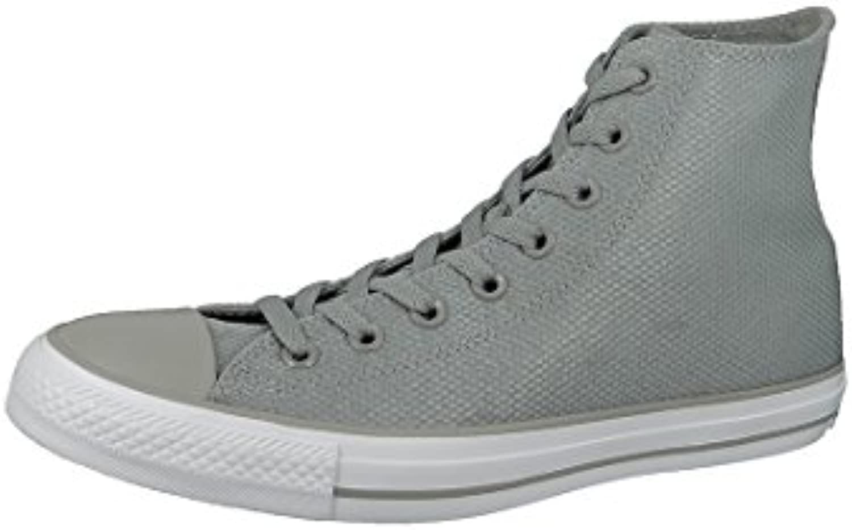 Converse CT As Tech Deboss Hi Unisex scarpe da ginnastica, grigio bianco, 37,5 | Italia  | Scolaro/Ragazze Scarpa